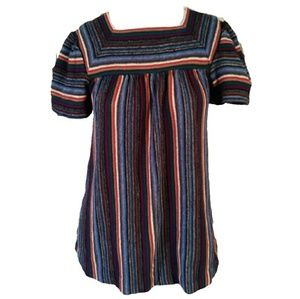 Vintage Sears Striped Short Sleeve Hippy Top SML